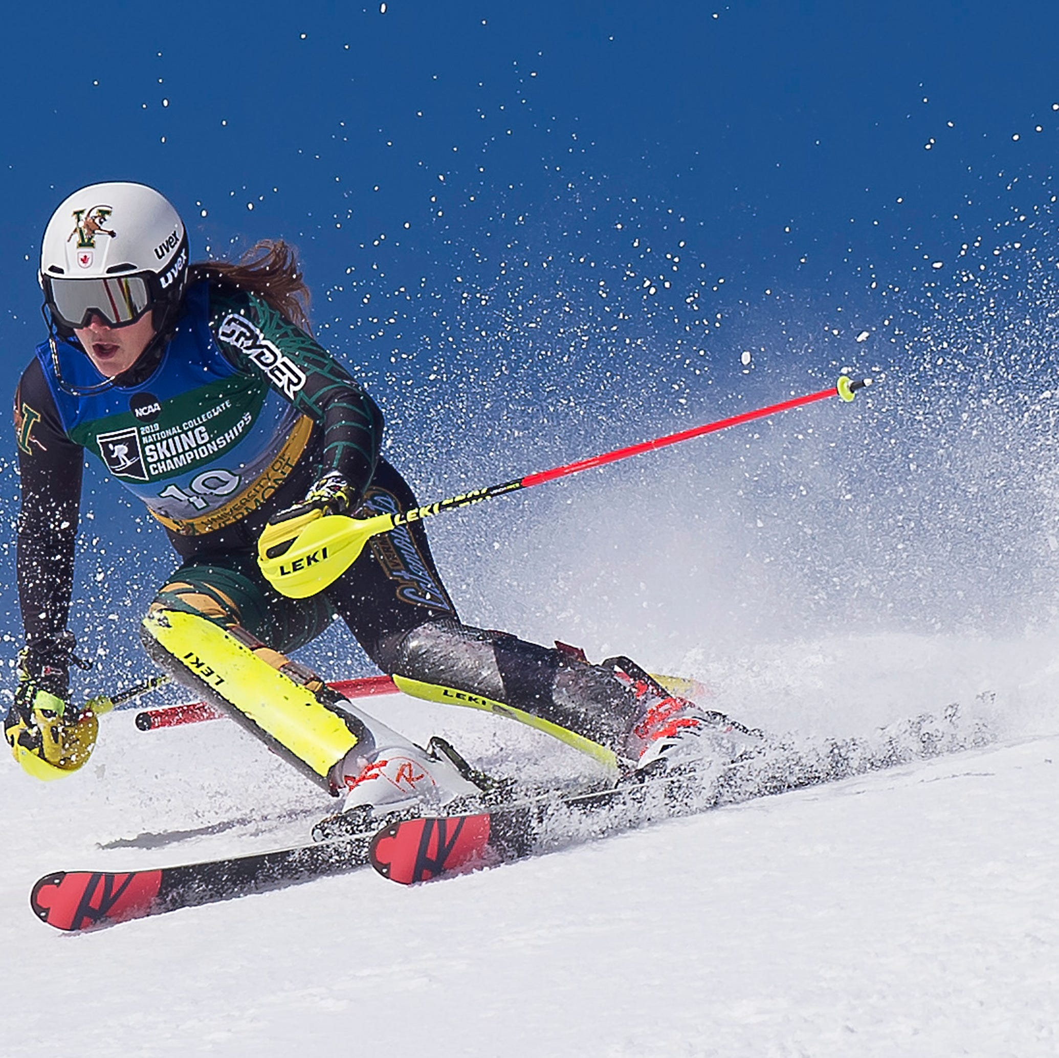 NCAA ski championships: UVM's St. Germain captures slalom crown for historic sweep