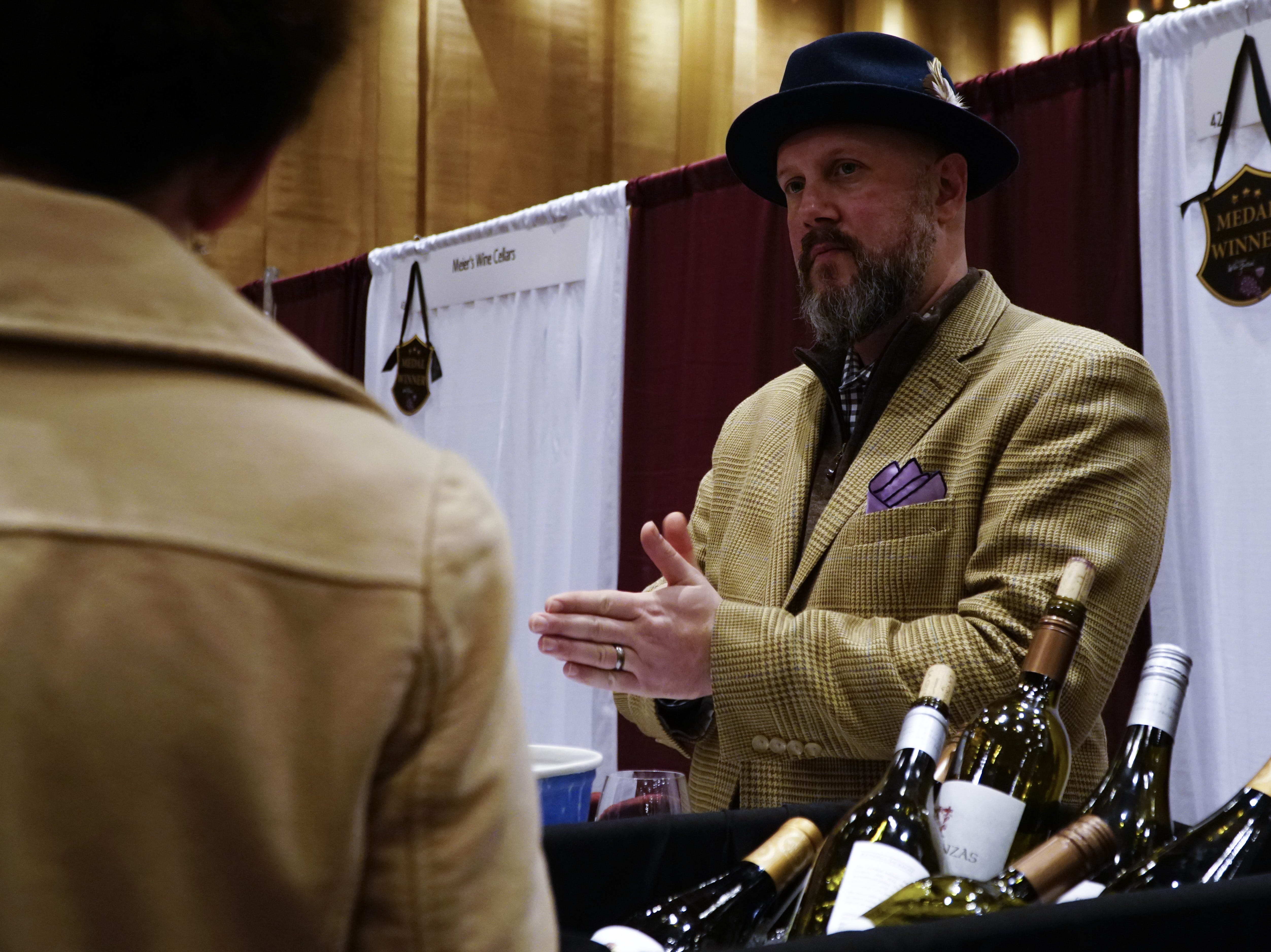 "Jackson Family Vineyard sales manager and ""wine dandy"" Ben Smith, The Cincinnati International Wine Festival, March 9, 2019."