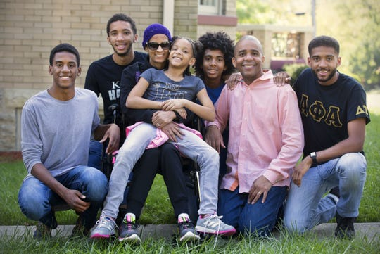 Cincinnati Vice Mayor Christopher Smitherman and his family pose for a family portrait in 2017.