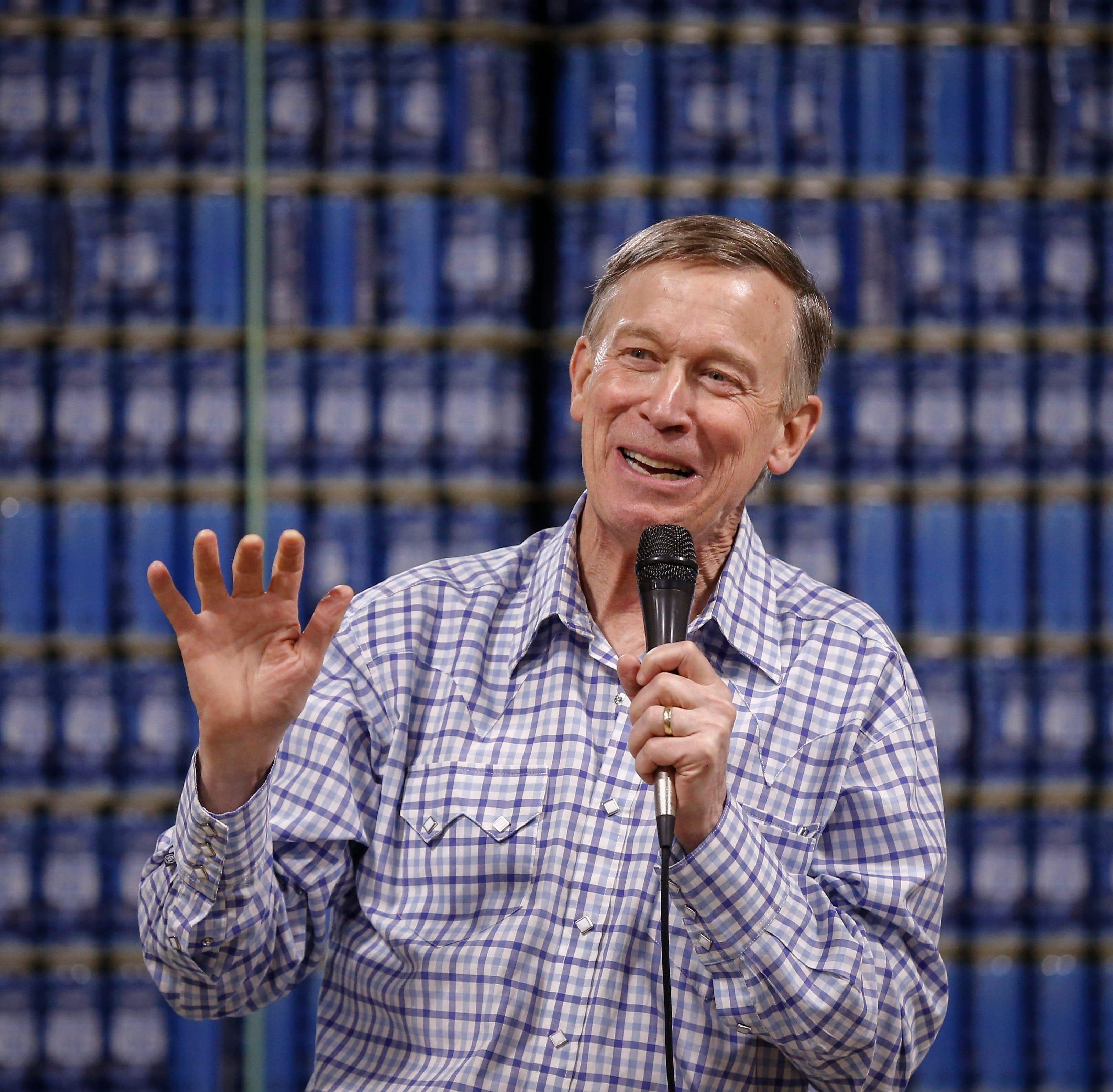 Iowa caucuses 2020: Folksy John Hickenlooper pledges to crisscross state, talking collaboration