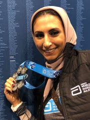 Rahaf Khatib has been recognized for completing the Berlin, Chicago, New York City, Tokyo, Boston and London marathons.