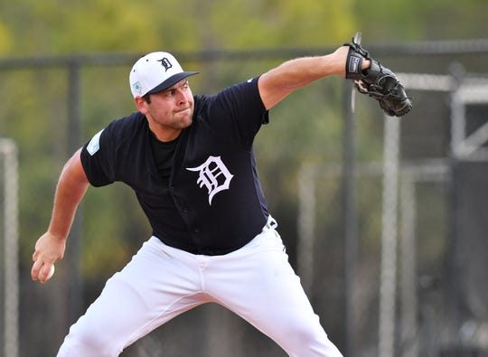 Tigers pitcher Michael Fulmer, shown here during a workout last month, allowed two earned runs on four hits and a walk in three innings.