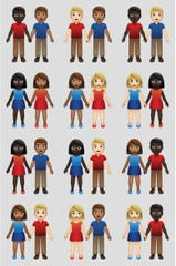 New variations of interracial emoji couples.