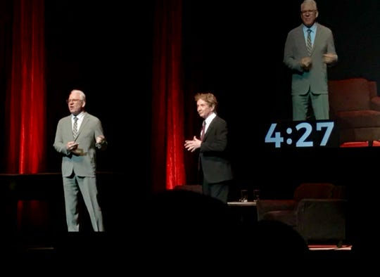 Steve Martin and Martin Short on stage at Aiken Theatre on March 8, 2019.