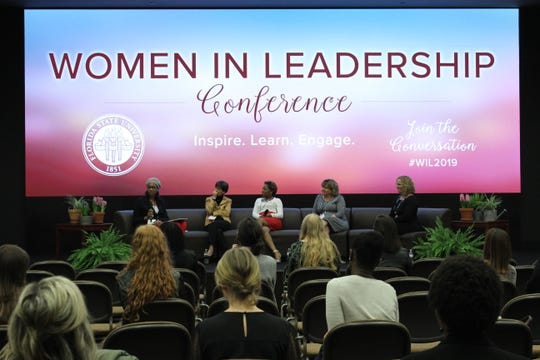 Women around the Tallahassee community spoke on corporate life and the path to success at the annual Women in Leadership conference at the Turnbull Center on Thursday, March 7.