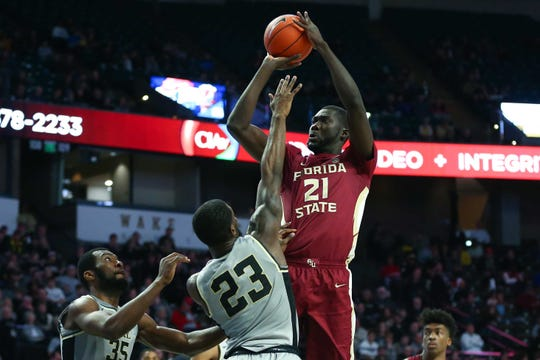 Senior center Christ Koumadje and Florida State have set a new program record with their 25th regular season win and 13th ACC win.