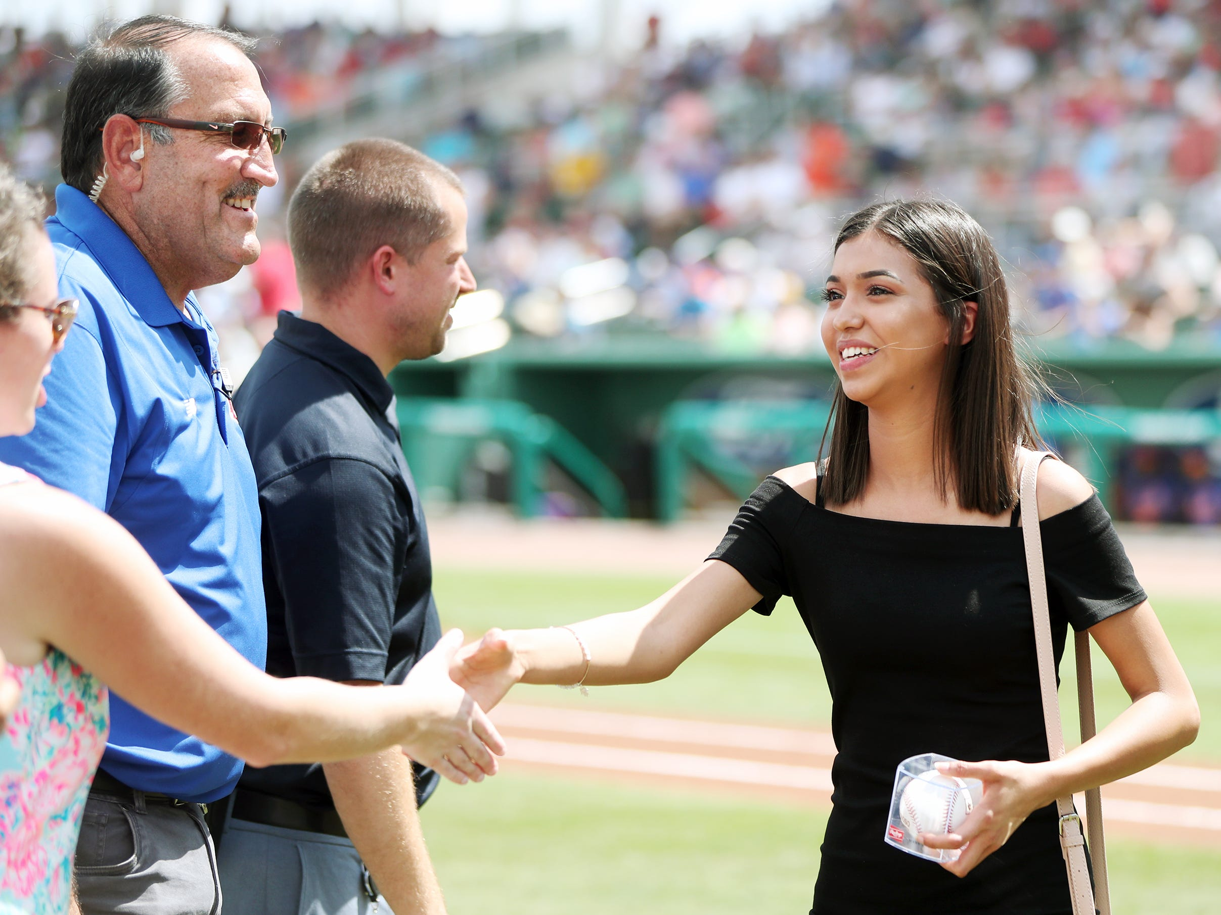 East Lee County High School's Cecilia Reynoso was one of 13 Lee County public high school seniors that received a $5,000 scholarship from the Boston Red Sox Foundation on Saturday before the team's game against the New York Mets at JetBlue Park in Fort Myers. The students' academic achievements and community service efforts were the basis for the honor.