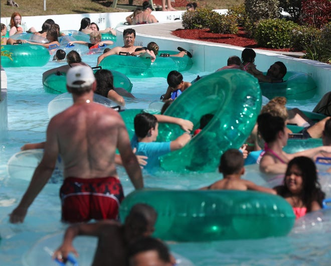 Opening day at Sun Splash Family Waterpark in 2019.