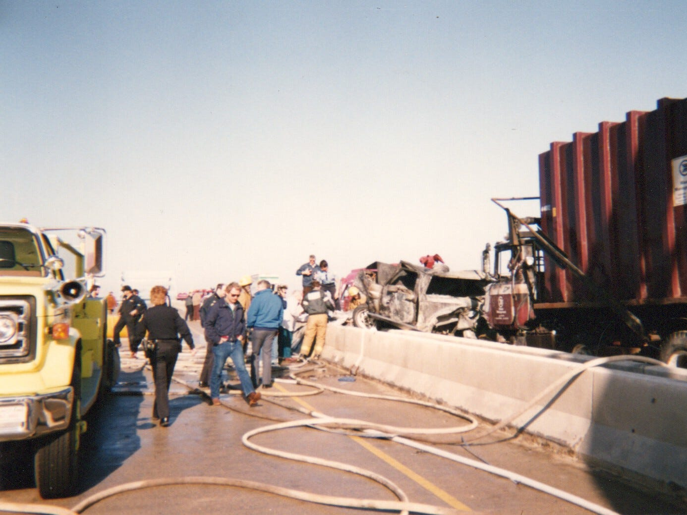 Foggy conditions contributed to a March 12, 1990 crash on the Leo Frigo Memorial Bridge that involved more than 50 vehicles and resulted in three deaths.