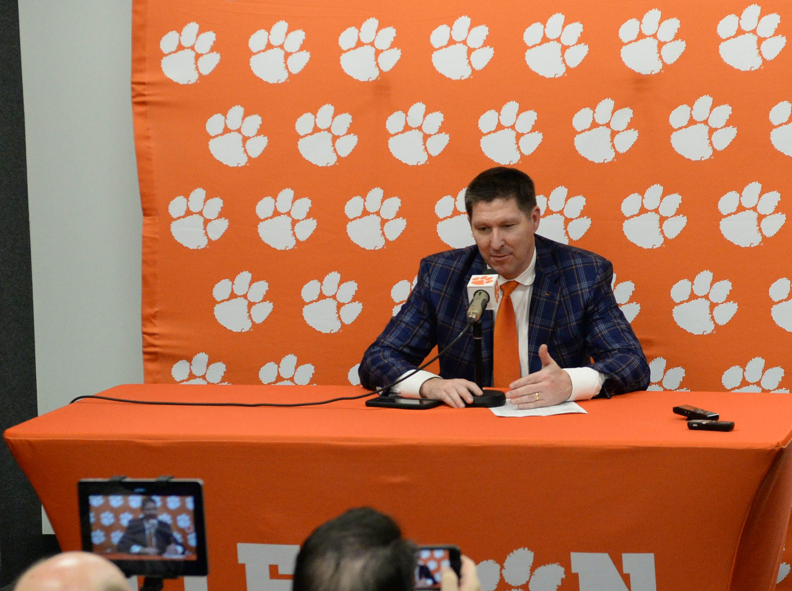 Clemson head coach Brad Brownell after the game against Syracuse Saturday, March 9, 2019.