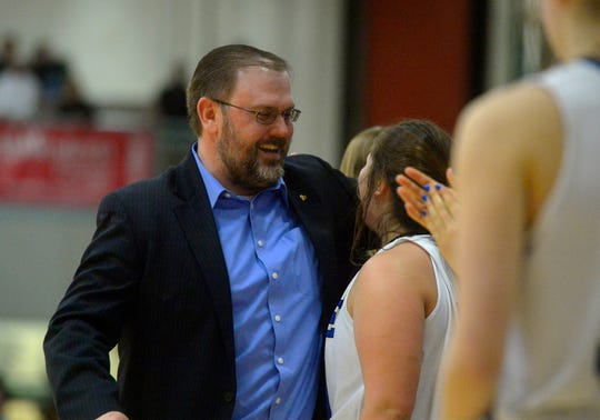 Havre girls' basketball coach Dustin Kraske.