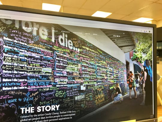 A photo of the Before I Die website. The art project, which first began as a one-off stenciled art piece on a New Orleans abandoned structure, is coming to Guam. University of Guam students will unveil a local Before I Die wall at this year's Charter Day.