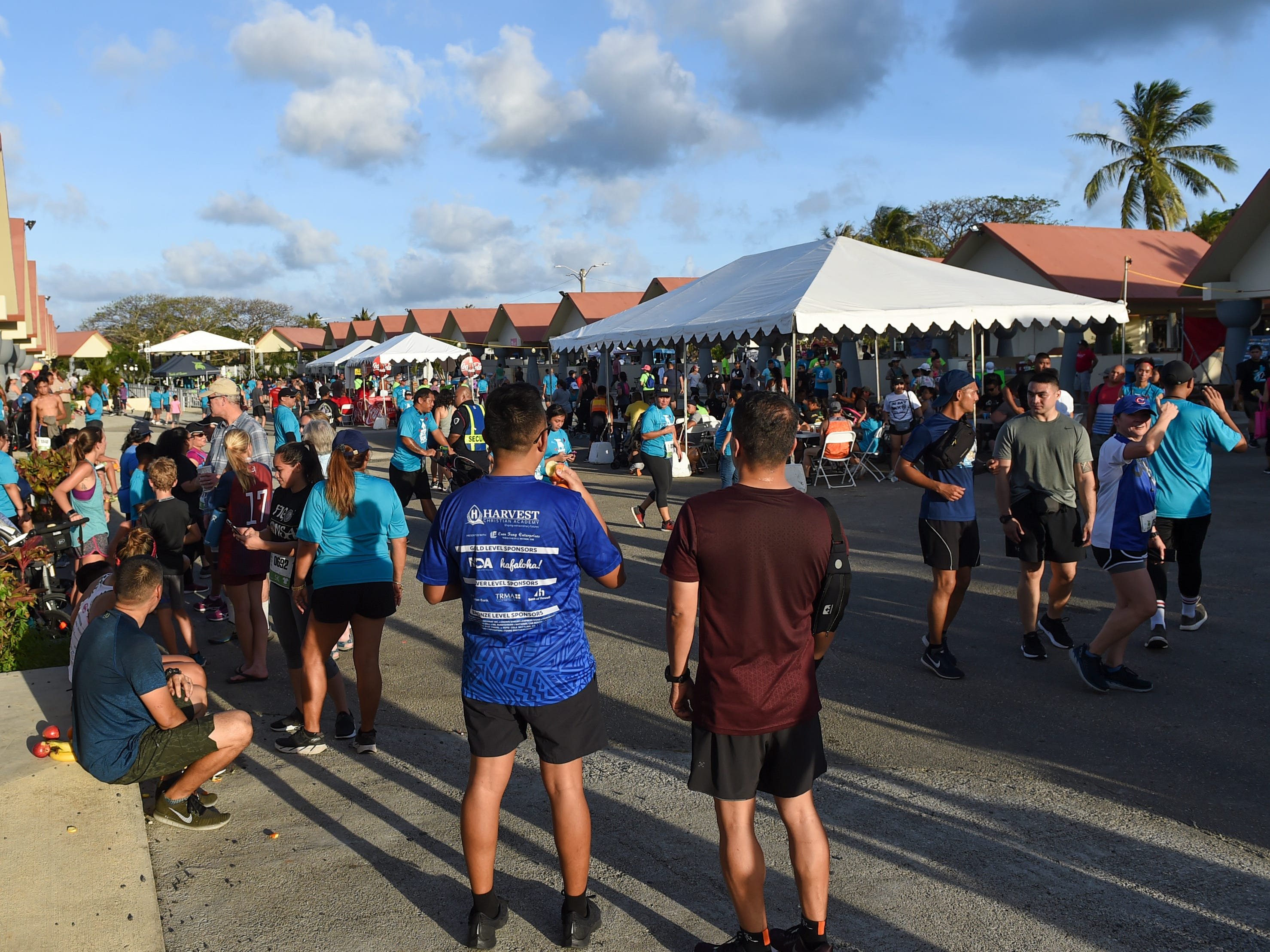 Crowds form for the Bank of Guam Ifit Run and Block Party at Chamorro Village in Hagåtña, March 9, 2019.