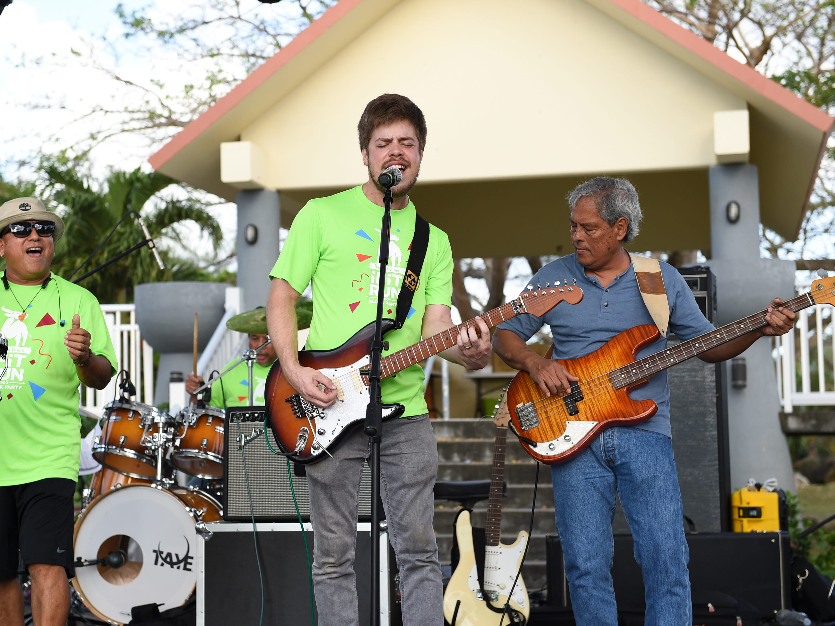 Local band 13° North performs during the Bank of Guam Ifit Run and Block Party at Chamorro Village in Hagåtña, March 9, 2019.