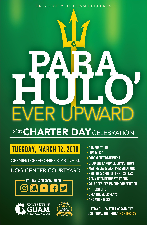 University of Guam's 51st Charter Day celebration poster