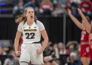 Kathleen Doyle was fired up about Iowa's 70-61 win against Indiana in the quarterfinals of the Big Ten Tournament.