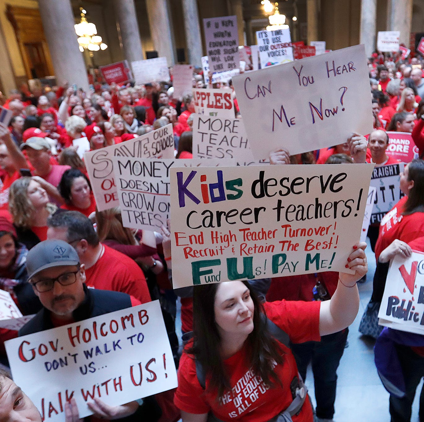 Union president: Indiana is falling behind the nation in school funding, teacher pay