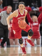 FILE – Brenna Wise scored 16 points as the Hoosiers upset No. 5 South Carolina on Thursday night.