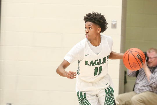 Zionsville point guard Isaiah Thompson (11) led the Eagles to the Class 4A regional final this past weekend.