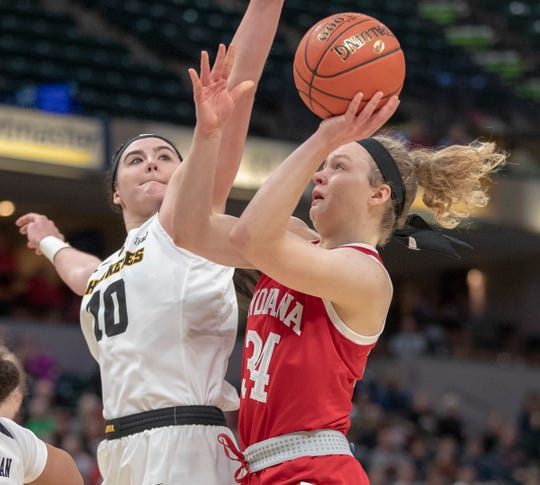 Grace Berger will be looked upon to step up for the Hoosiers in Bendu Yeaney's absence.