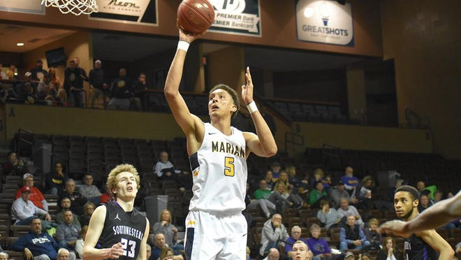Reginald Kissoonlal led Marian with 24 points in Friday's NAIA tournament win over Southwestern (Kan.)