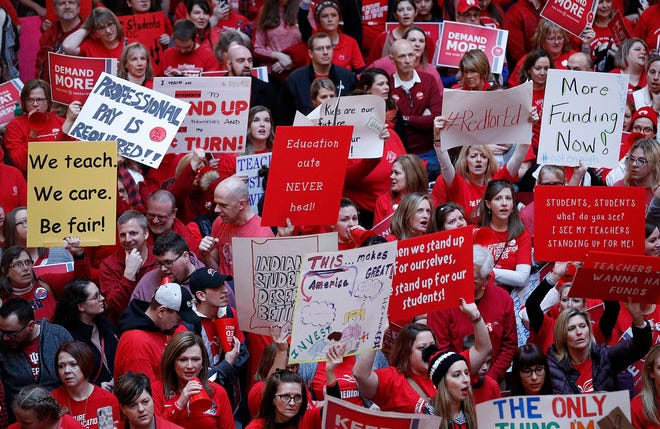 Fourteen school corporations in and around the Tippecanoe County area have announced they will close Nov. 19 ahead of the Red for Ed rally in Indianapolis.