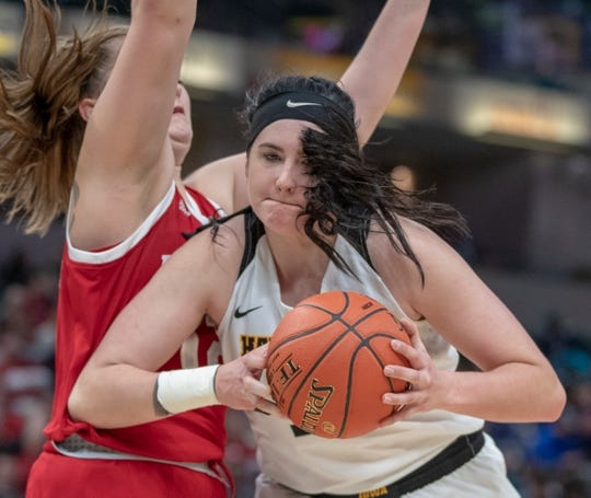 Indiana vs. Iowa, Women's Big Ten Tournament, Bankers Life Fieldhouse, Indianapolis, Friday, March 8, 2019. Iowa won 70-61.