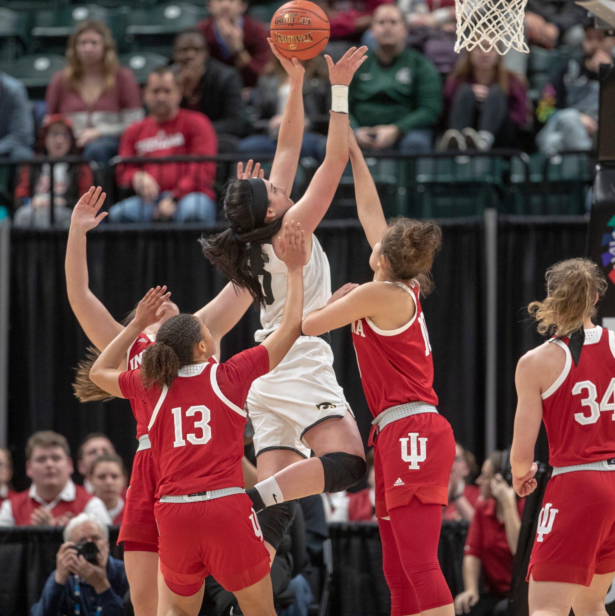 Iowa women survive pesky Hoosiers in opener, advance to Big Ten Tournament semifinals