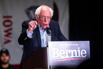 Hear from Sen. Bernie Sanders, I-VT, on the $15 minimum wage, during an event, Friday, March 8, 2019, at the University of Iowa in Iowa City.