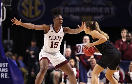 Mississippi State senior center Teaira McCowan helped the Bulldogs reach the SEC Tournament Championship Game for the fourth-straight year with a dominant performance against Missouri in the semifinals at Bon Secours Wellness Arena in Greenville, South Carolina.