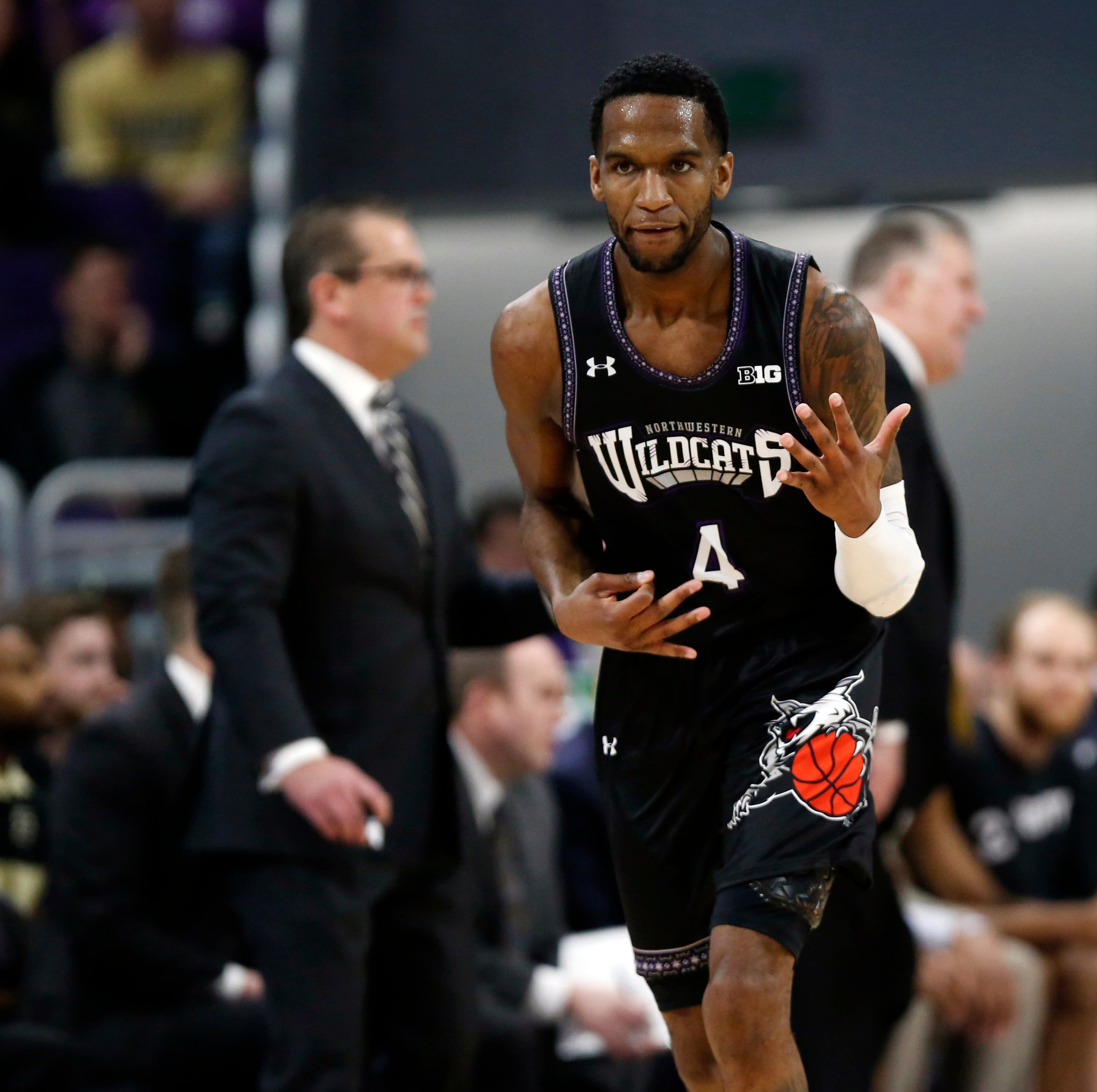 Update: Northwestern's Vic Law carried off court after injury vs. Purdue basketball