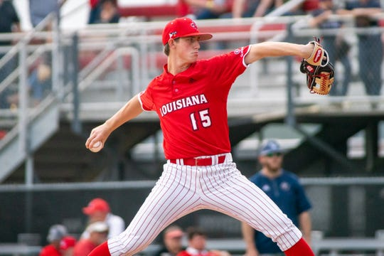 Juco-transfer Jacob Schultz threw 4.1 strong innings for UL in a 4-1 loss to Loyola-Marymount on Saturday.