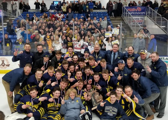 The Hartland Eagles are the 2019 state Division 2 hockey champions.