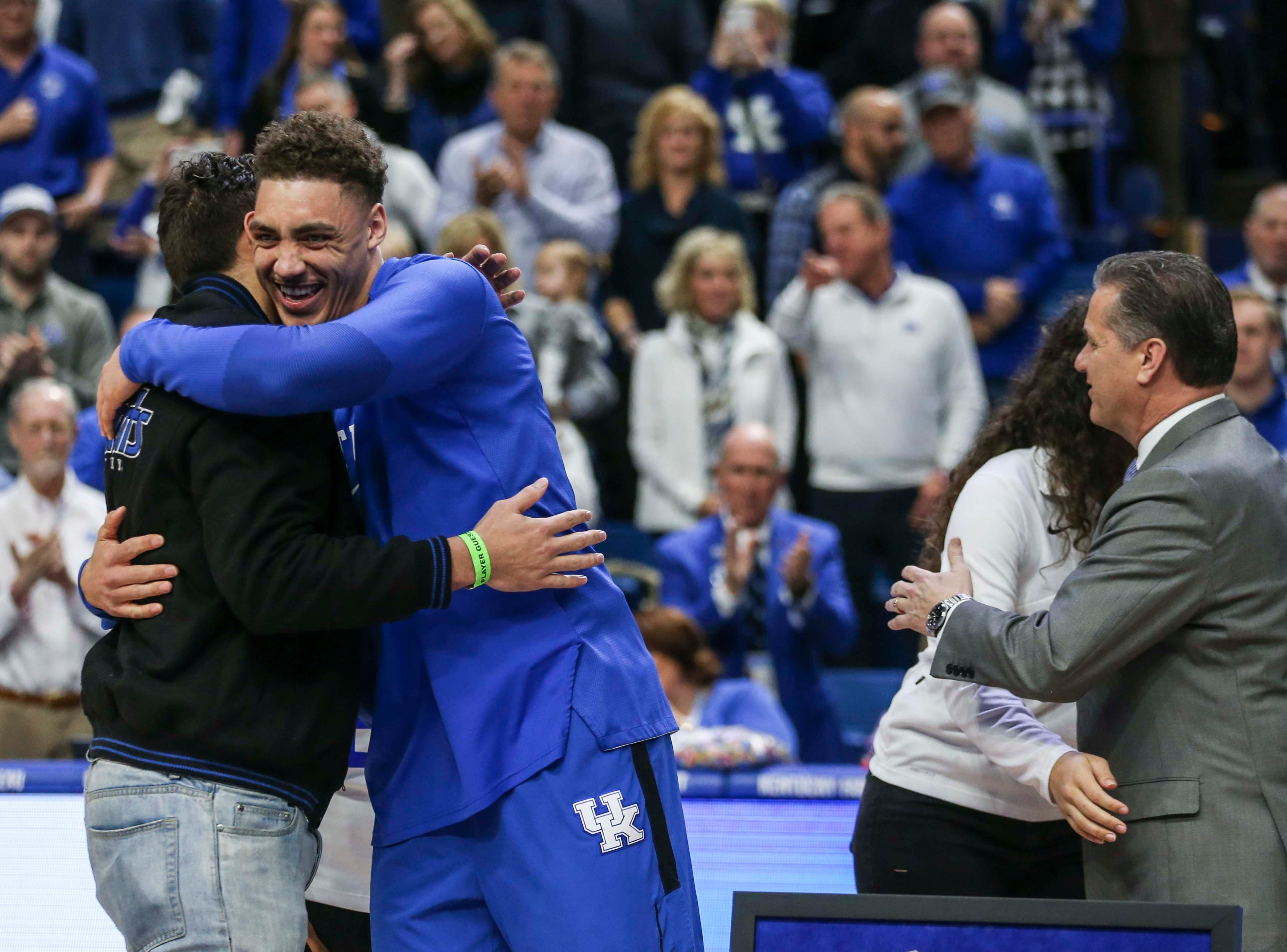 Kentucky's Reid Travis was honored on Senior Day before the game against Florida. March 9, 2019
