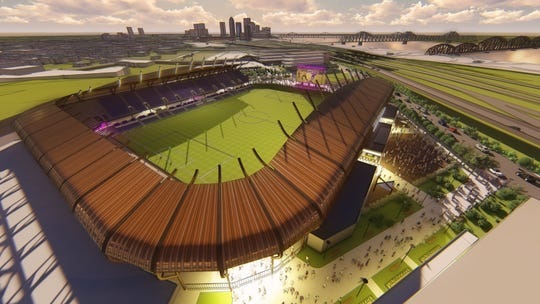 A rendering of the new Louisville CIty FC stadium.