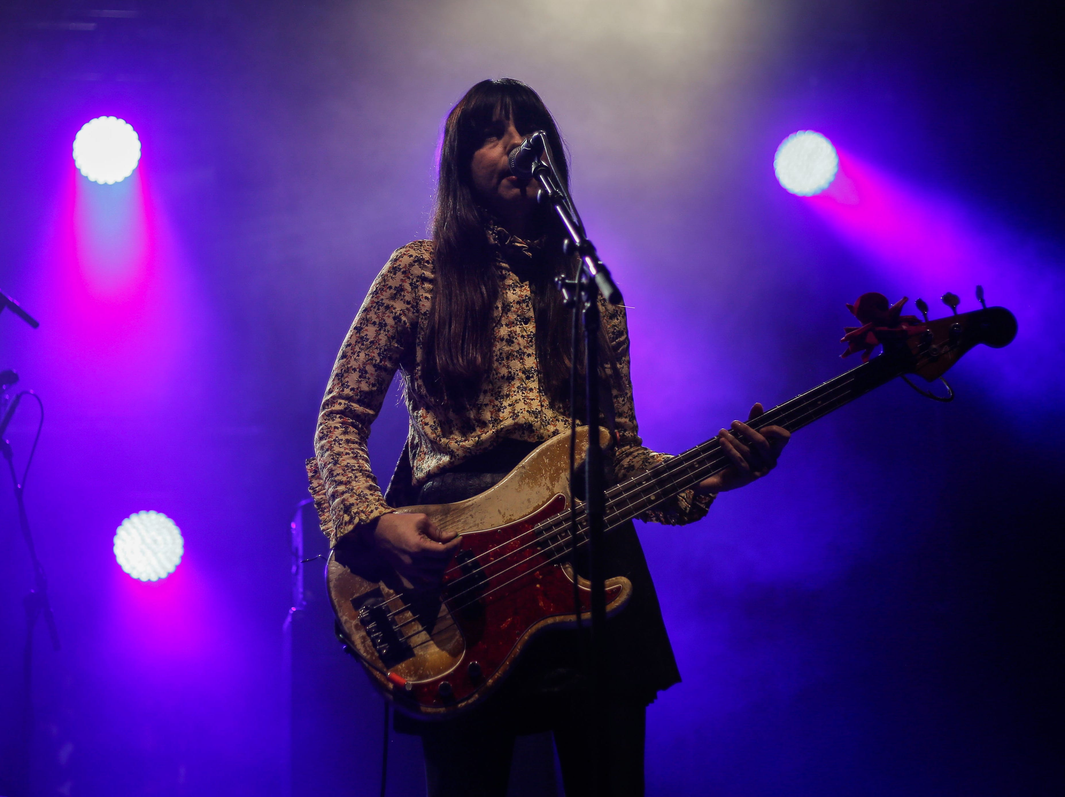 Paz Lenchantin, The Pixies bassist, performs during the first show of the  Weezer x Pixies 2019 tour at the KFC Yum! Center in downtown Louisville, Ky. on Friday, March 8, 2019.