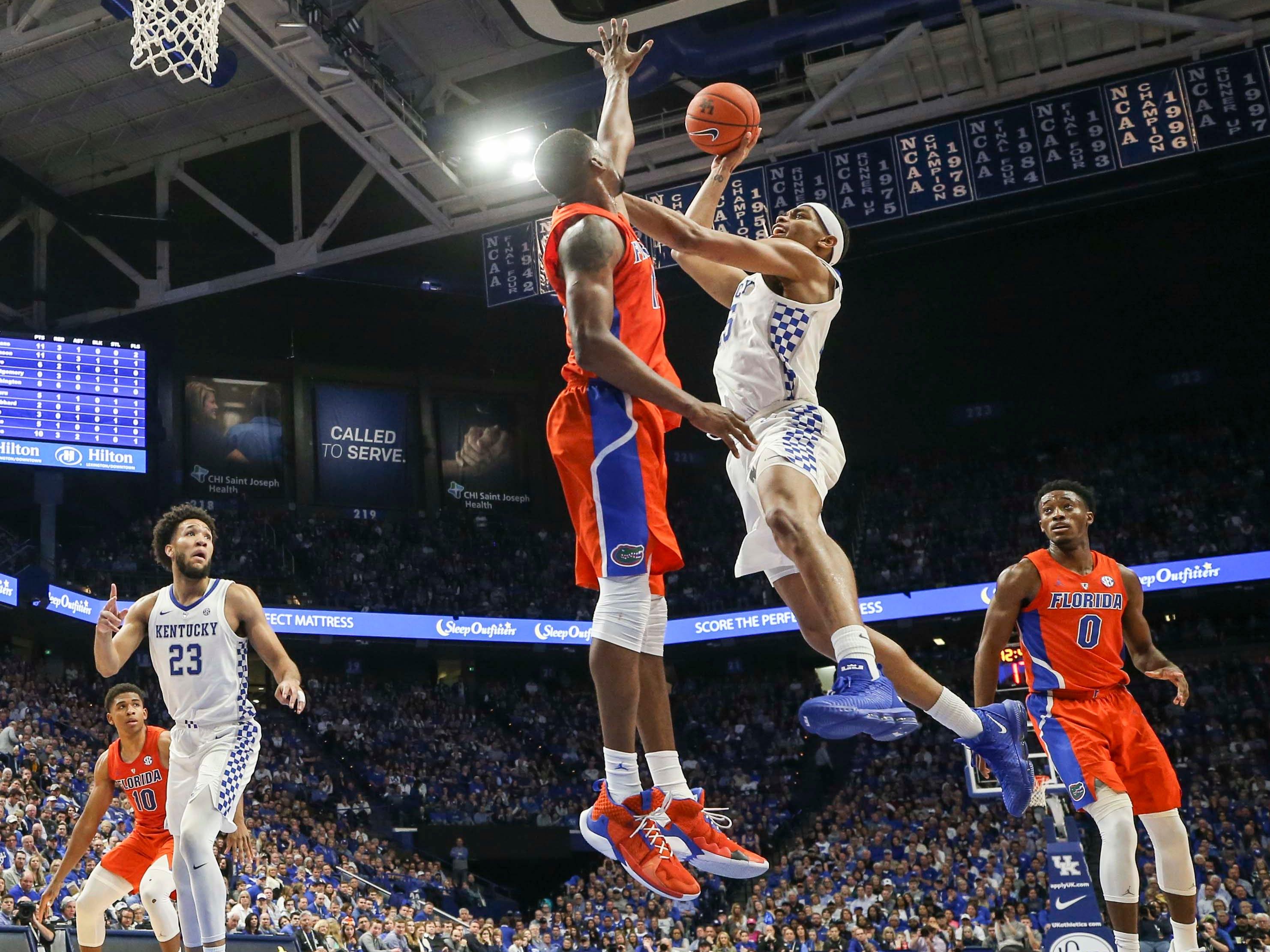 Kentucky's PJ Washington JR scored this shot against Florida. Wildcats won, 66-57.  March 9, 2019