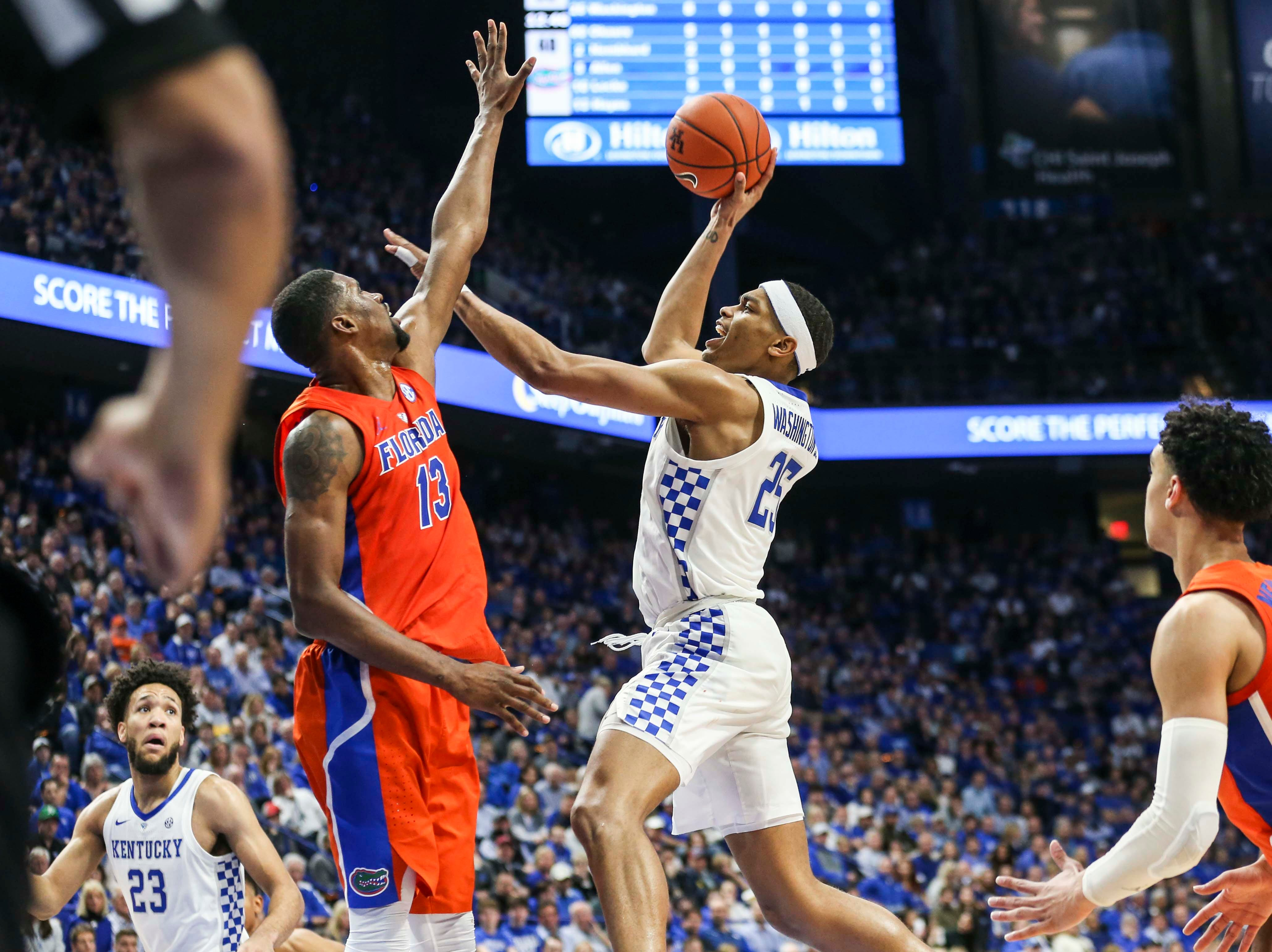 Kentucky's PJ Washington scored 15 points and had nine rebounds against Florida. Wildcats won, 66-57.  March 9, 2019