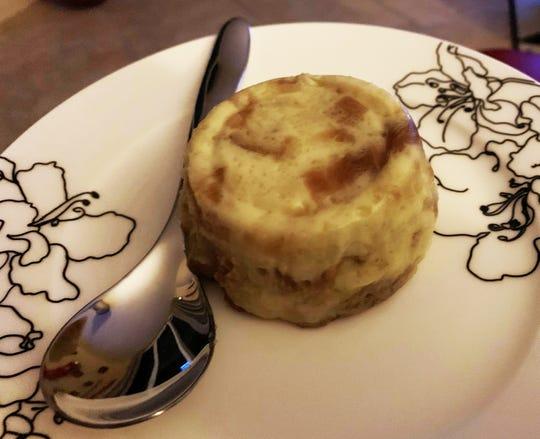 Single-servie bread pudding from Chef Sebastian Mazzotta.