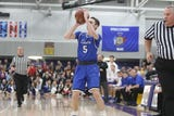 The Lancers senior guard scored a team-high 22 points in an overtime win over Sussex Hamilton