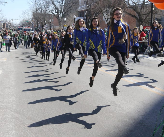 Members of the Wick-Hegarty School of Irish Dance entertain the crowd along South St.