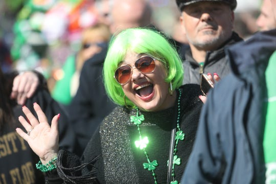 Parade fans in the spirit of St.Patrick's day lined the Morristown St.Patrick's Day Parade route on March 9, 2019.