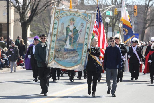 The 2019 Morristown St.Patrick's Day Parade on March 9, 2019 makes its way up South St.