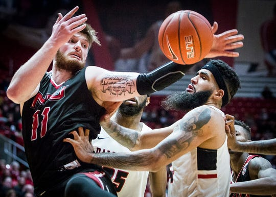 Ball State faces off against Northern Illinois during their game at Worthen Arena Friday, March 8, 2019.