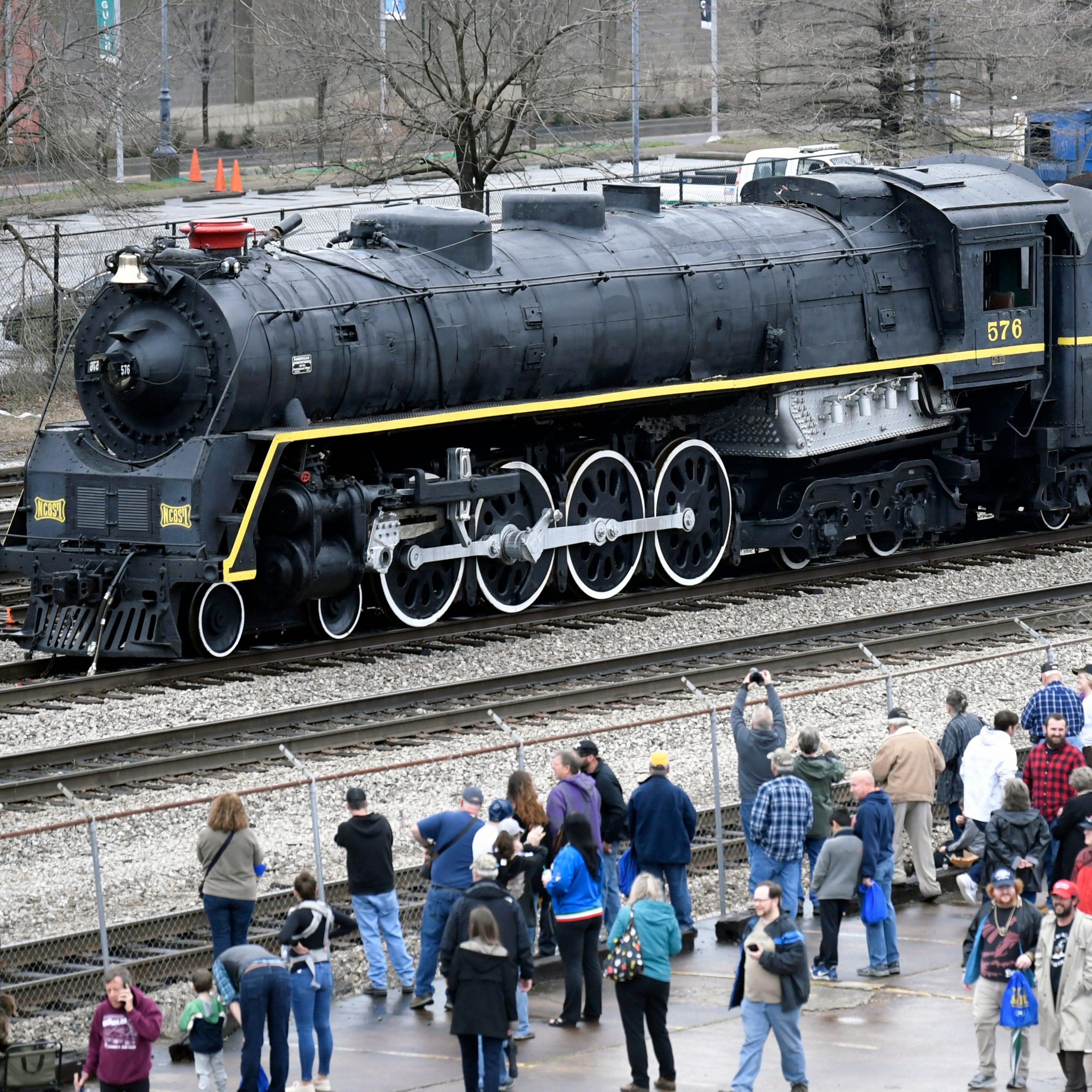 Centennial Park's World War II-era steam locomotive returns home after more than 65 years