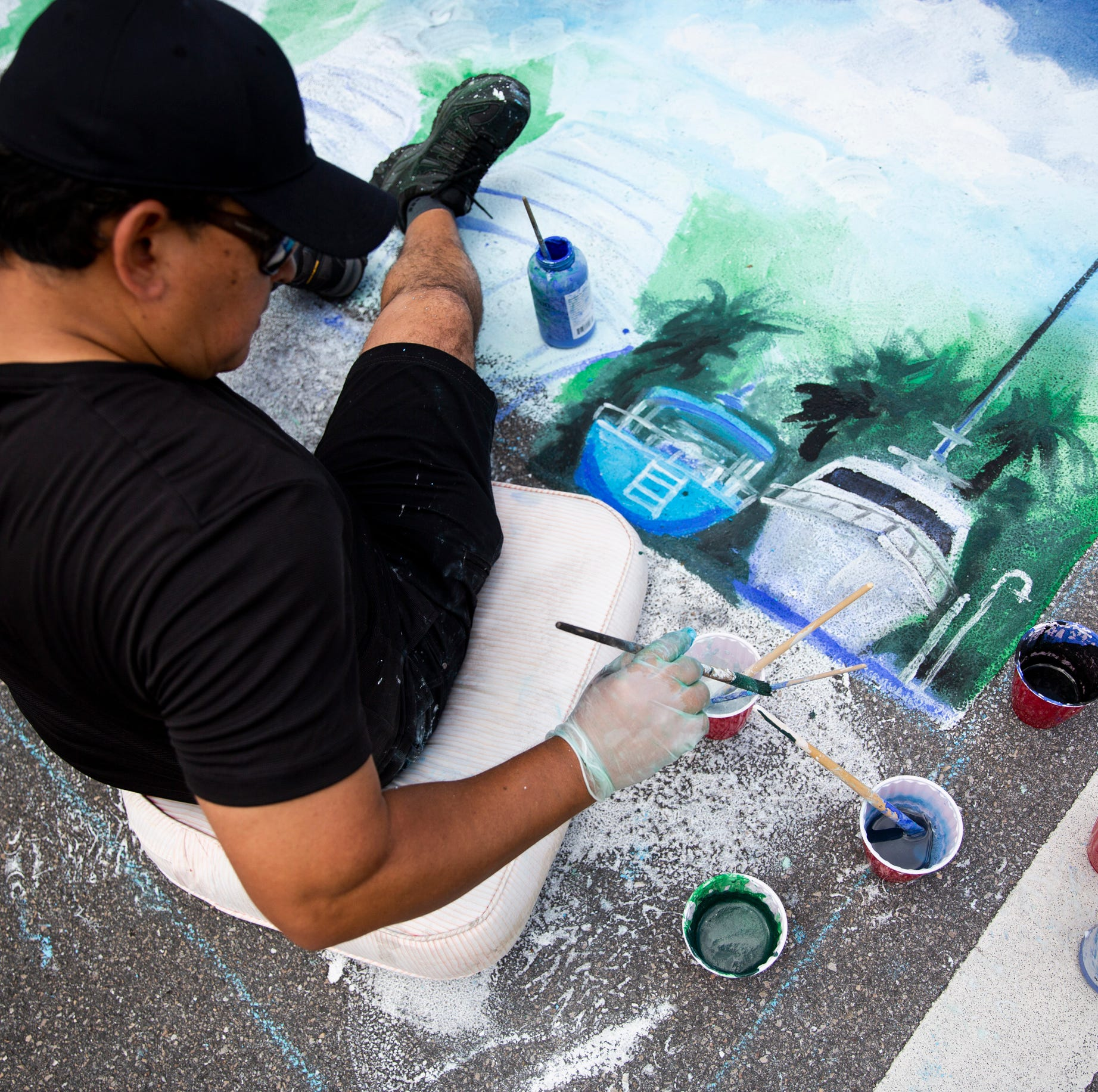 Naples Chalk Art on 5th brings color and reminder: 'It's all about being in the moment'