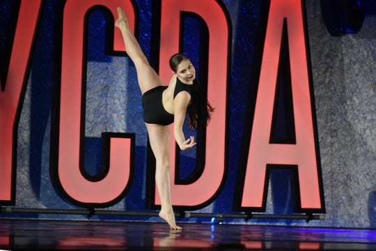 New York City Dance Alliance held a regional dance competition at the Hilton Meadowlands in East Rutherford on Friday March 8, 2019. Hannah Katz, 13 from Bedford, NY in a solo performance during the competition.