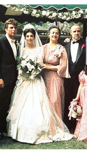 "Gianni Russo, Talia Shire, Morgana King, Marlon Brando in ""The Godfather"""