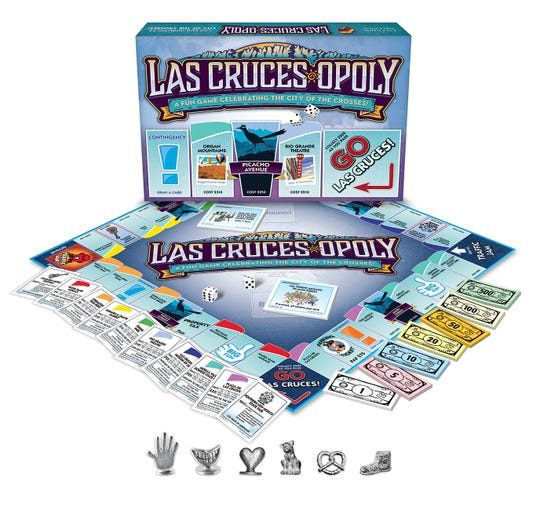 Las Cruces-opoly, a Las Cruces themed Monopoly board game, is being sold at all Walmart locations in the Las Cruces area for $19.98.