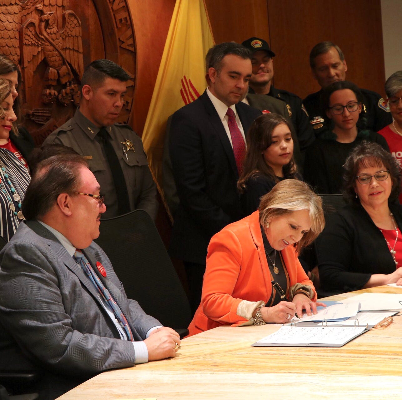 New Mexico governor enacts expanded gun background checks